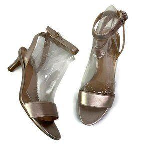 Naturalizer Tinda Gold Ankle Strap Heel Sandals